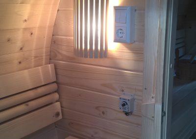 Beleuchtung in der Sauna